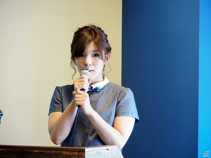 ↑최근 UPQ 발표회 당시 나카자와의 모습이다.