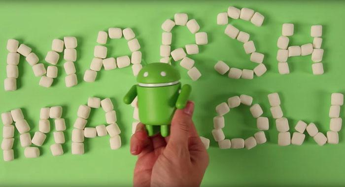 ↑마시멜로라는 이름을 갖게 된 안드로이드 M(사진 출처 : 유투브 구글 영상)