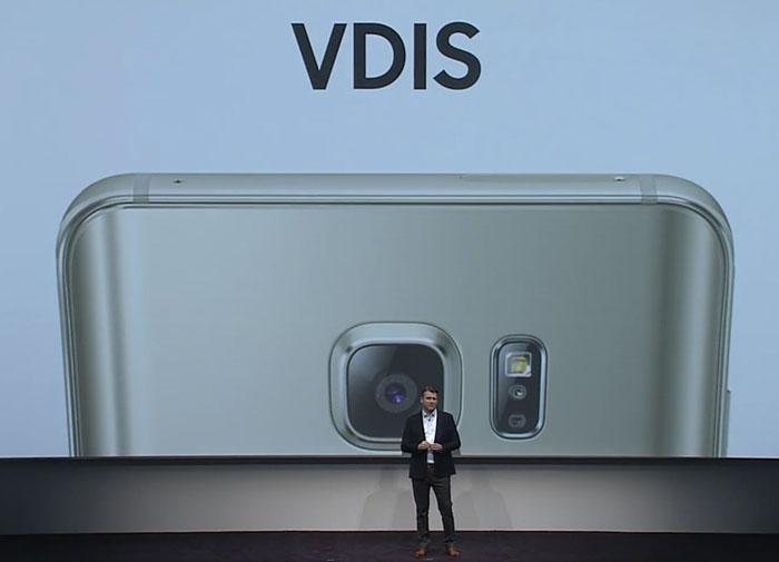 ↑갤럭시 노트5의 소프트웨어 손떨림 방지 기술 'VDIS'(사진 출처 : 유투브 생중계 영상)