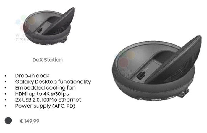 갤럭시 S8용 접이식 도킹 스테이션 'DeX' 추정 렌더링 등장