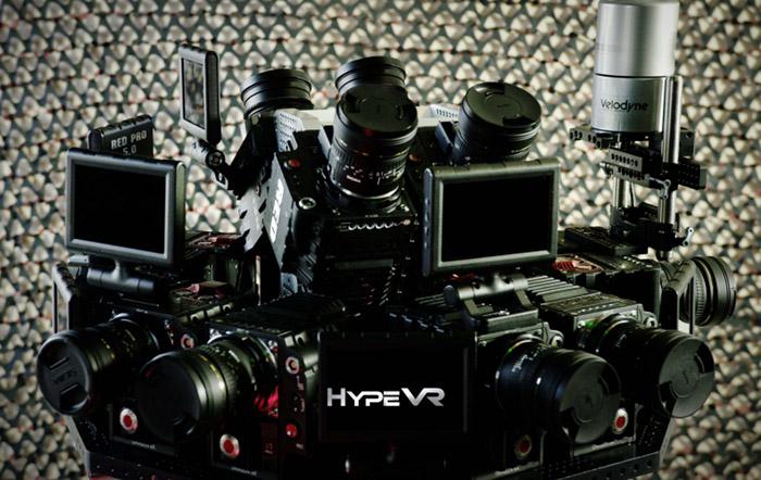 볼류메트릭 비디오를 위해서 하이프VR이 제작한 카메라