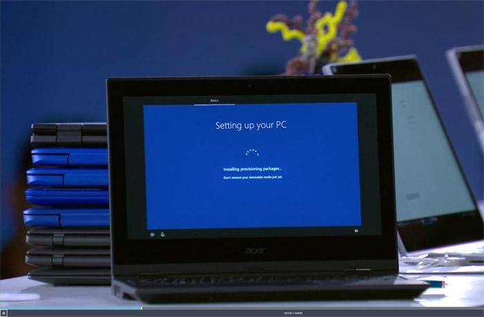 윈도 10S는 첫 설정 값을 저장한 USB를 다른 PC의 첫 설정 때 꽂으면 곧바로 해당 설정이 적용된다.