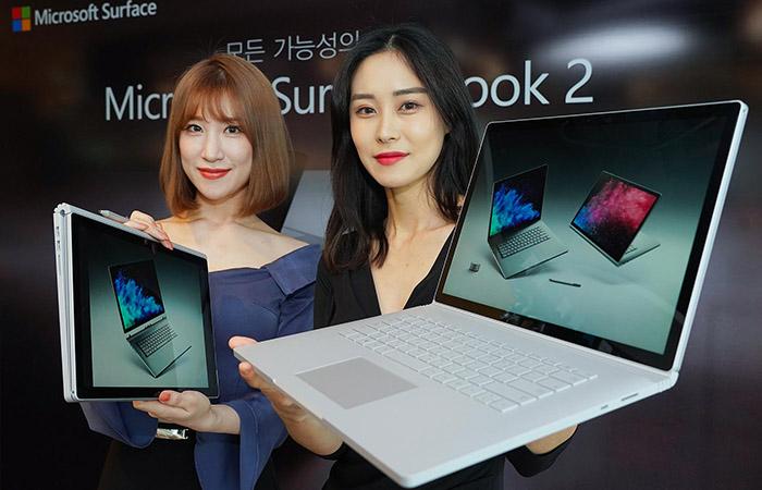 한국에 서피스북 2 출시하는 마이크로소프트