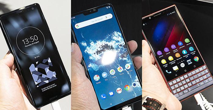 [IFA2018] 신고식 무사히 마친 새로운 스마트폰 다섯 가지